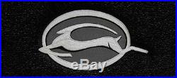 NEW! BLACK Floor Mats 2006-2014 Chevy Impala Embroidered Logo in Silver on all 4