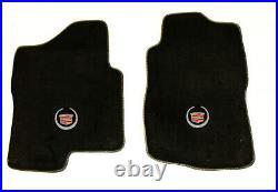 NEW! BLACK Floor Mats 2007-2013 Cadillac Escalade EXT Official Crest Logo All 3