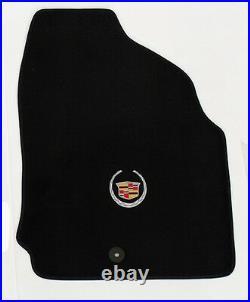 NEW! BLACK Floor Mats 2007-2014 Cadillac Escalade 3 pc Set Embroidered Logo All