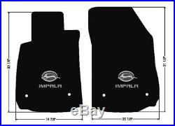 NEW! BLACK Floor Mats 2014-2020 Chevy Impala Embroidered Double Logo on All 4
