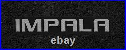 NEW! BLACK Floor Mats 2014-2020 Chevy Impala Embroidered Logo in Silver All 4