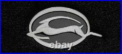 NEW! BLACK Floor Mats 2014-2020 Chevy Impala Embroidered Logo in Silver on All 4