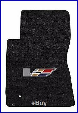 NEW! Black Floor Mats 2009-2014 Cadillac Sedan CTS V Series Flag logo All 4 Mats