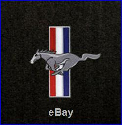 NEW! Black Floor Mats Mustang Convertible Pony Bars Embroidered Logo on all 4