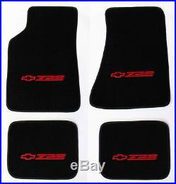 NEW! Carpet Floor Mats 1982-2002 Camaro Z28 Embroidered Logo in Red on All 4 pc