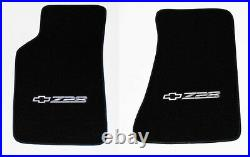 NEW! Carpet Floor Mats 1982 2002 Camaro Z28 Embroidered Logo in Silver All 4