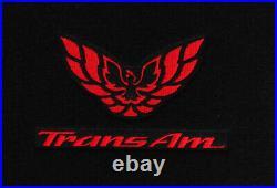 NEW! Carpet Floor Mats 1982-2002 PONTIAC FIREBIRD Trans Am Embroidered Logo All