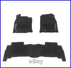 NEW For Toyota 4Runner Floor Liner Mat Black Rubber All Weather Genuine OEM