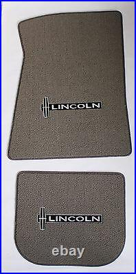 NEW! Grey Floor Mats 1998-2010 Lincoln Town Car Embroidered star Logo on all 4