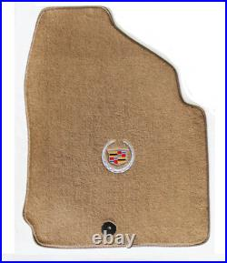 NEW! Tan Floor Mats 2010-2016 Cadillac SRX Official Crest Logo in Silver on All