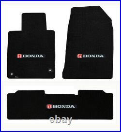 New! 2006 2020 Honda Civic Custom Carpet Floor Mats Set Embroidered Logo All
