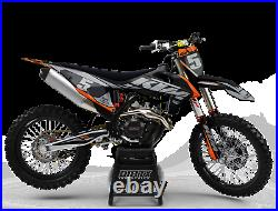 New Dirtx Industries Complete Graphics Factory Storm Orange/gray All Ktm Models