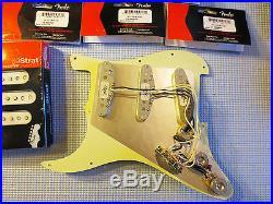 New Fender Loaded Strat Pickguard Custom Shop 69 Aged Cream on Tortoise USA
