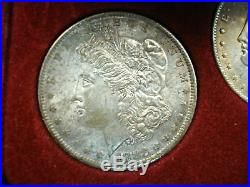 New Orleans Silver Dollar Collection 1883 1884 1885 All Nice Bu -natural