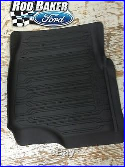 OEM NEW 15-18 Ford F-150 Crew Cab TRAY Floor Mat Kit BLACK Rubber All Weather