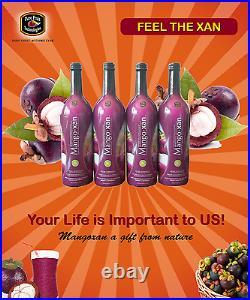 Organic Mangoxan Mangosteen Juice (8-750ml bottles) Free Shipping USA