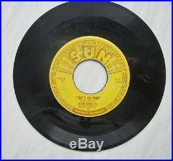Original Elvis Sun 45 Sun 209' That's All Right/ Blue Moon Of Kentucky
