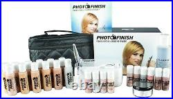 Photo Finish Airbrush Makeup System, Fair- Tan Deluxe Kit- Matte