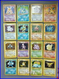 Pokemon Base Set ALL 1-16 HOLO Cards, Charizard Blastoise Venusaur + 1999 WOTC