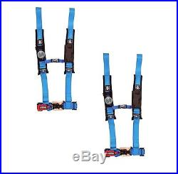 Pro Armor 4 Point Harness 2 Pads Seat Belts PAIR Blue RZR XP 1000 Turbo S All