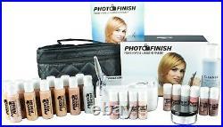 Professional Airbrush Makeup System, Fair- Tan Master set Kit- Luminous