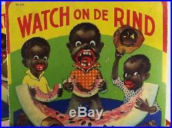 RARE board game 1931 BLACK MEMORABILIA antique Watch On De Rind by All-Fair