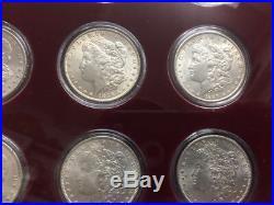 ROLL 20 Morgan Silver Dollars AU BU ALL DIFFRENT DATES WALL PLAQUE 1878 -1904