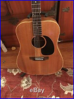 Rare, All Original, 1970-72 Gibson JG-0 Acoustic Guitar. VG Condition with HSC