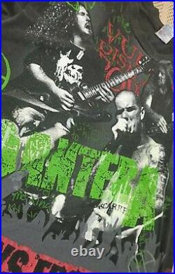 Rare Vintage 1992 Pantera All Over Print T-Shirt On Hanes Tag