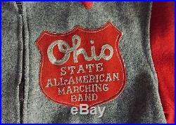 Rare Vintage 40's Ohio State All-American Marching Band Small Campus Wool Jacket