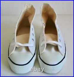 Rare Vintage Anaconda Shoes Converse All Star Chuck Taylor USA Hi Top White 7.5