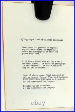Richard Brautigan 1st Edition 1967 All Watched Over By Machines Of Loving Grace