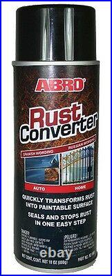 SALE ABRO RUST CONVERTER SEALER ALL-IN-1 400ml AEROSOL PREVENTION PROOFING