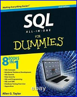 SQL All-in-One For Dummies 2e by Taylor, Allen G. Paperback Book The Cheap Fast