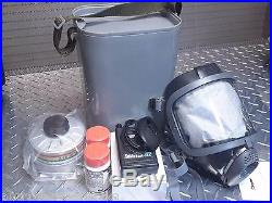 Scott/SEA 40mm NATO Gas Mask Kit withcase, amp & NBC/CBRN Filter ALL NEW exp 2022