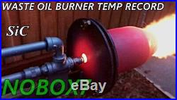Silicon Carbide all fuel forge burner, foundry, kiln burner high velocity burner