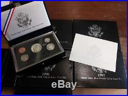 Silver Premier Proof Sets from 1992-1998, All 7 sets