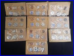 Silver Proof Sets from 1955-1964, All 10 sets