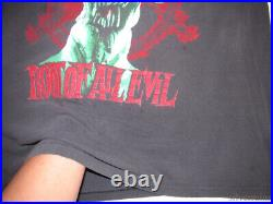 Slayer Vintage T Shirt 80's 1988 Tour Concert Root Of All Evil Thrash Metal Band