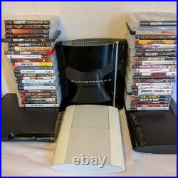 Sony Playstation 3 PS3 Slim Fat or Super Slim Console With 4 Random Games All Cord
