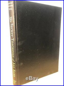 THE SECRET TEACHINGS of ALL AGES Signed By Manly Hall 1967 14TH Edition Great