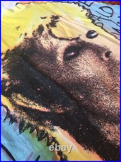 TRUE VTG 80s Mosquitohead David Bowie All Over Print Shirt Fifth Column Iggy Pop