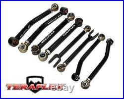 TeraFlex Complete 8 Adjustable FlexArm Control Arms For 07-18 Jeep Wrangler JK