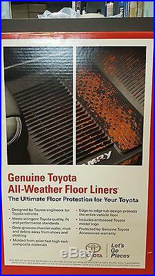 Toyota Tacoma 2018-19 AT Double Cab All Weather Rubber Floor Liner Mat OEM NEW