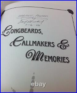 Turkey Callmakers/Longbeards 3 Book Set, Earl Mickel All Signed, Clean, NoSmoke