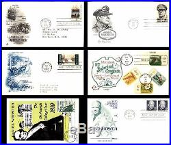 US 1940s 1990s Lot of 440 First Day Covers All Scanned Great Variety