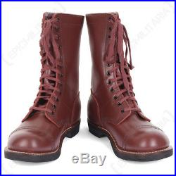 US Army Paratrooper Jump Boots WW2 Repro American Leather Shoes All Sizes New