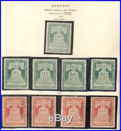 US #RV1-53 Complete set of Motor Vehicle Revenue stamps, all mint VF Sc $2,879