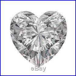 Unique Genuine Heart Shape Moissanite Loose Gemstones, Charles&Colvard All Sizes