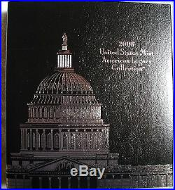Us Mint Silver Proof American Legacy Collections All Four 2005 2006 2007 2008